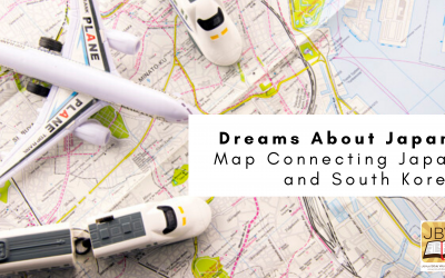 Dreams About Japan: Map Connecting Japan and South Korea