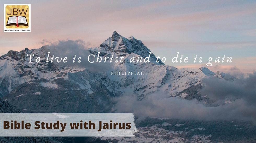 Bible Study with Jairus – Philippians