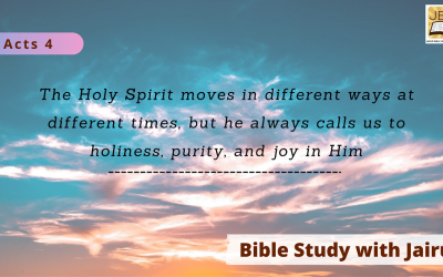 Bible Study with Jairus – Acts 4